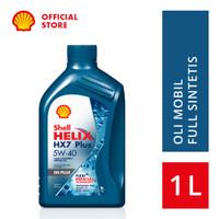 Oli Mesin Mobil Shell Helix HX7 5W-40 (1L)+Ganti Oli di Tempat