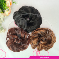 Messy Bun Scrunchies Hairpiece Extension Wig Karet Ikat Rambut Cepol