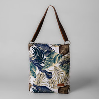 Pamole - Aline Series Tote Bag Tas Wanita Bahan Kanvas Motif Tropical