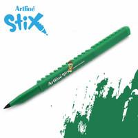 Artline Stix Brush Marker - Green / Brush Pen