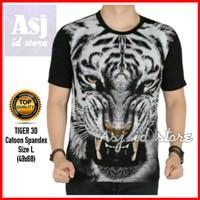 KAOS HARIMAU TIGER 3D - Baju macan loreng 3d kaos tiger pria distro