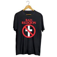 Kaos Band Bad Religion 2 Bahan Cotton Combed Tag GILDAN Or NSA - Hitam