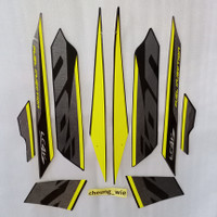 Lis body Striping Yamaha New Vixion Advance NVA 2016 Black Hitam