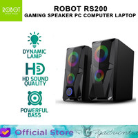 ROBOT RS200 GAMING SPEAKER AKTIF PC COMPUTER LAPTOP WITH AUX 3.5MM