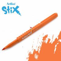 Artline Stix Brush Marker - Orange / Brush Pen