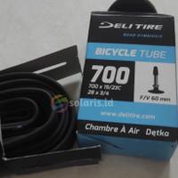 Ban Dalam Fixie Balap Roadbike 700 x 19 23c Presta FV 60mm Deli