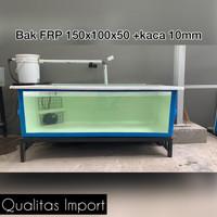 Bak fiber FRP 150x100x50 + kaca