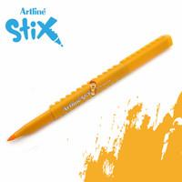 Artline Stix Brush Marker - Yellow / Brush Pen