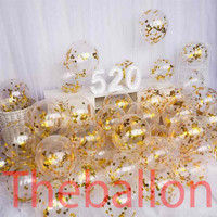 Balon Transparan isi confetti | Balon Ulang Tahun Confetti