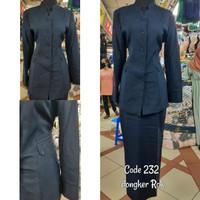Set Baju Blazer Kerja Wanita Dongker Navy Biru Tua PNS Guru Formal