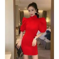 Melisa Cosmo Bodycon Dress Import TM 9889 - Merah