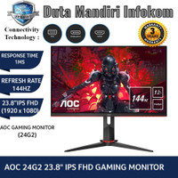 AOC 24G2 23,8 Inch - FHD IPS 144Hz 1ms FreeSync HDMI DP Gaming Monitor