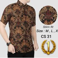 Batik Pria / Kemeja Slimfit Pria / Baju Batik Lengan Pendek Hem CS31