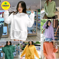 Sweater Hoodie Polos Wanita L fit XL Bahan Fleece