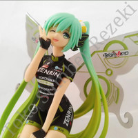 Action Figure Anime Vocaloid Hatsune Miku Nendroid Chibi Racing Wing