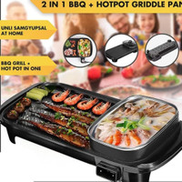 Happy time grill pan electric 2in1 (BBQ & Hotpot)