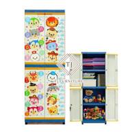 Lemari Plastik Lemari Pakaian Anak Club Grand Mini Printing