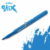 Artline Stix Brush Marker - Sky Blue / Brush Pen