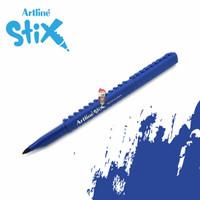 Artline Stix Brush Marker - Blue / Brush Pen