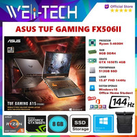 ASUS TUF GAMING A15 FX506II RYZEN 5-4600H 8GB 512SSD GTX1650Ti 4GB W10