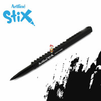 Artline Stix Brush Marker - Black / Brush Pen
