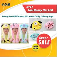 BT21 Topi Bunny Hat LED Karakter BTS Korea Cooky Chimmy Koya 0591 - Biru