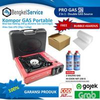 Kompor Gas Portable Mini 2 In 1 | Kompor Portable Portabel Pro Gas - KOMPOR 2 GAS