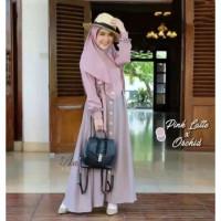 Baju Gamis Wanita MECCA SYARI Set Hijab Gamis Syar'i Terbaru