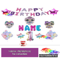 Dekorasi Ulang Tahun Anak LOL Premium Set - LOL 1, Tanpa Tirai