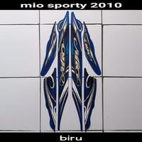 Striping Sticker Yamaha Mio Sporty 2010 Biru