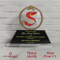 Plakat Akrilik Piagam Acrylic Piala Trophy UK. 15CM x 10CM