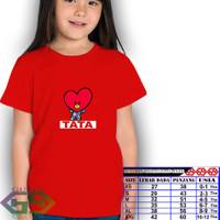 Kaos BTS karakter/ BTS / Baju anak/ Atasan anak/ Kaos TATA