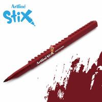 Artline Stix Brush Marker - Dark Red / Brush Pen