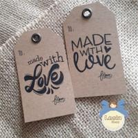 Hang Tag Made With Love/ Kartu Ucapan / Hangtag samson craft paper