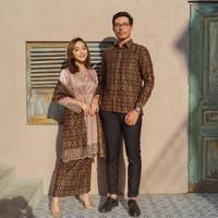 Couple SET - Setelan Baju Batik Wanita + Rok Wanita + Kemeja Pria AZB