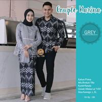 Baju couple batik kebaya karina modern kekinian 2021