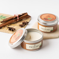 UCHII Aroma Therapy Decorative Canned Candle Lilin Wangi Cinnamon Wood