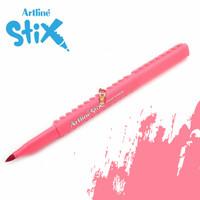 Artline Stix Brush Marker - Pink / Brush Pen