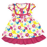 Dress Anak Perempuan Katun 4-6 Tahun Motif Bunga Bunga
