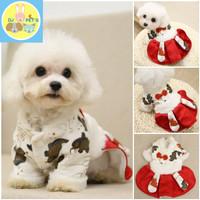 baju imlek anjing kucing dress premium anjing kucing imlek CNY011