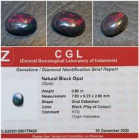 Batu Kalimaya Indonesia Black Opal Banten Memo 0.80 crt
