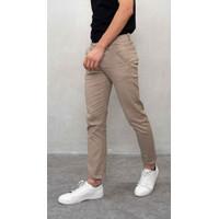 Houseofcuff Celana Chino Panjang Pria Slim fit Stretch Jeans Krim tua - 27