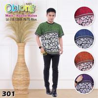 Kaos OBLONG BATIK Pria Hem Rayon Oblong Baju Pantai Pria Simple