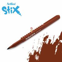 Artline Stix Brush Marker - Brown / Brush Pen