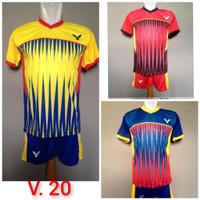 Baju Kaos Badminton Stelan Dewasa Victor V.20 Merah