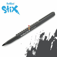 Artline Stix Brush Marker - Gray / Brush Pen