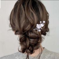 Tusuk Konde Tusuk Sanggul Hiasan Sanggul Hair pin Bunga Mutiara H52