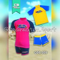 Baju Renang Anak Laki-Laki dan Perempuan 1 Set (Baju&Celana) - XXL