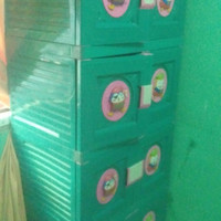 lemari pakaian plastik 4 susun 2 pintu
