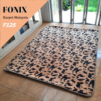 Karpet Malaysia Fonix Busa Bulu Tebal 150x190 Tikar Lantai Anti Slip